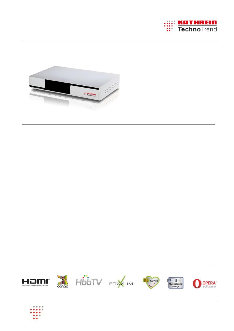 Gebrauchsinformation / Datenblatt zu Kathrein TechnoTrend TT-smart