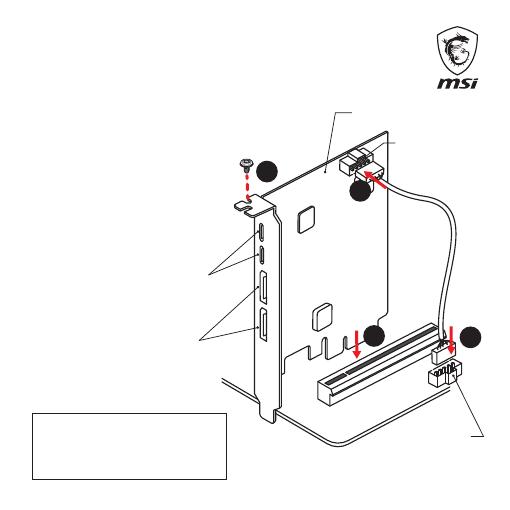 Gebrauchsinformation / Datenblatt zu MSI ThunderboltM3