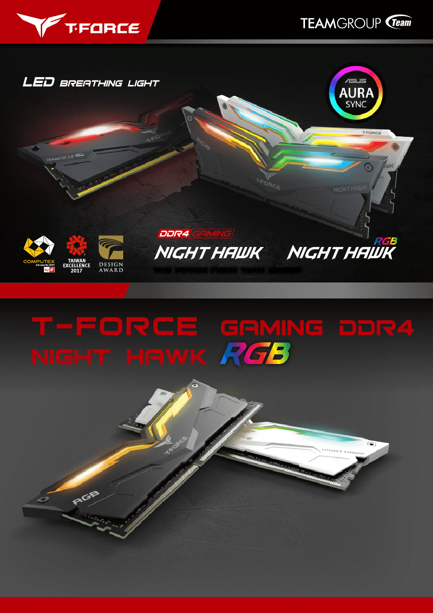 Gebrauchsinformation / Datenblatt zu TeamGroup T-Force Night Hawk