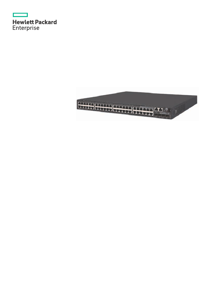 Gebrauchsinformation / Datenblatt zu HP 5510-48G SFP 4SFP+
