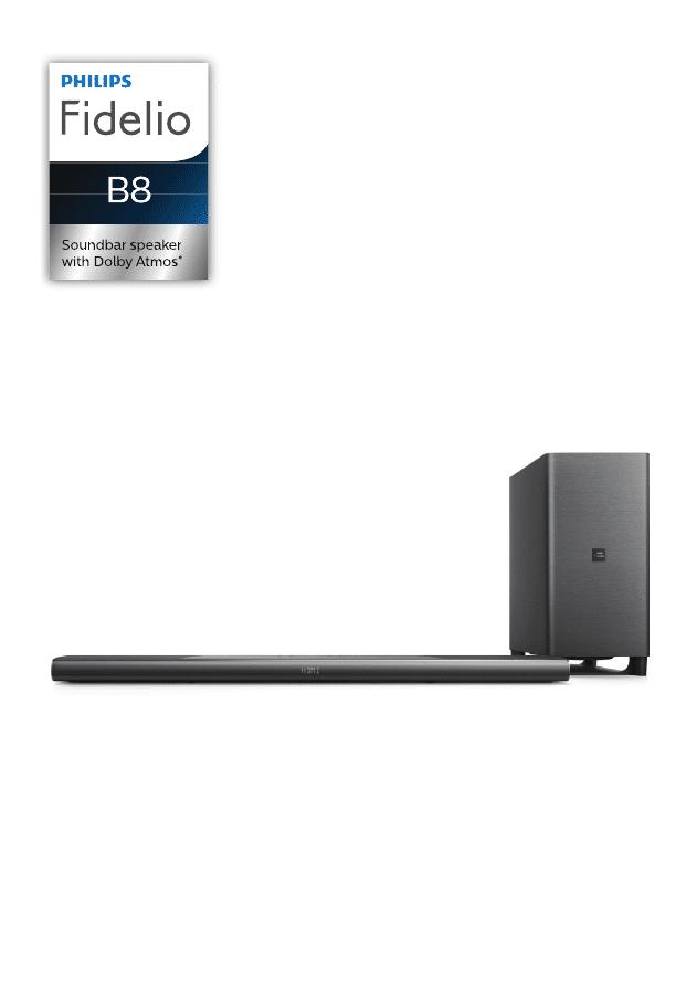 Gebrauchsinformation / Datenblatt zu Philips Fidelio B8/12
