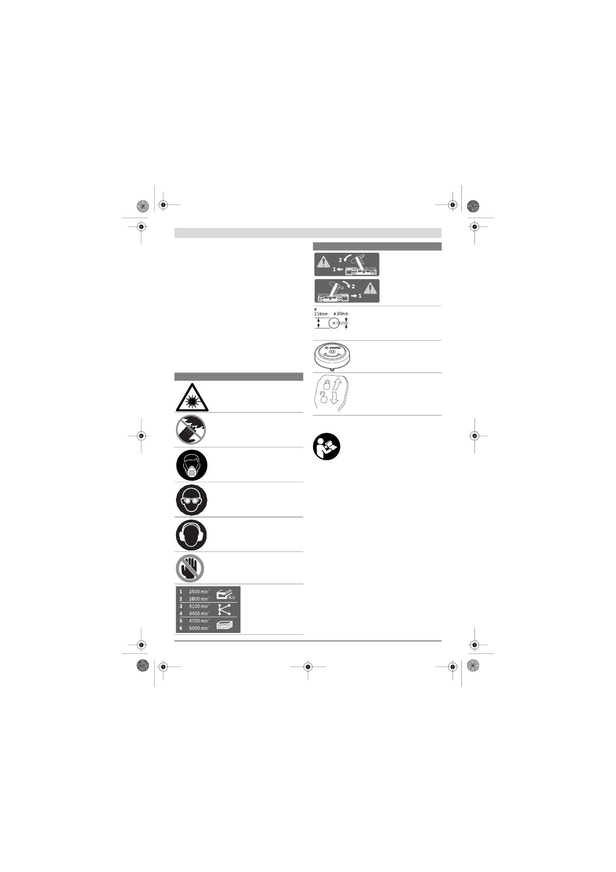 gebrauchsinformation / datenblatt zu bosch gcm 8sde elektro